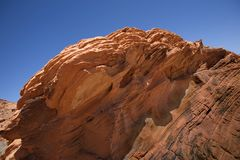 Red rock. Formation in Valley of Fire Nevada Royalty Free Stock Image