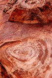 Red rock. With circles in arch national park Royalty Free Stock Photo