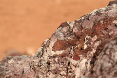 Red rock. Red and brown stone details Stock Photo