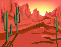 Red Rock. Is hand drawn original artwork. The vector file is in AI-EPS8 format stock illustration
