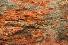 Red rock 5. From a red rusty rock with lots of different surfaces Stock Photography