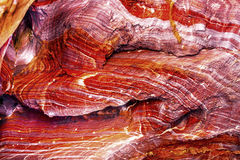 Red Rock Abstract Near Royal Tombs Petra Jordan. Red Rock Abstract Petra Jordan  Built by the Nabataens in 200 BC to 400 AD.  Rose Red canyon walls create many Stock Image