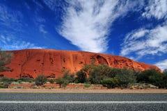 Red rock of Alice Spring, Yulara, Mutitjulu Stock Photography