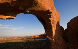 Red Rock Arches. Natural red rock arches at Arches National Park in Utah USA Royalty Free Stock Photos