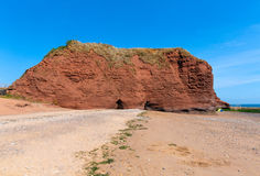 Red rock beach near Dawlish Warren Devon Stock Photo