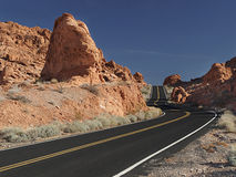 Red Rock and Black Ribbon Royalty Free Stock Images