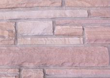 Red rock brick texture Stock Photography