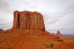 Red Rock Butte in the Desert Stock Photos