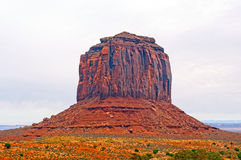 Red Rock Butte in a Desert Valley Stock Photo