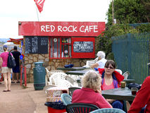 Red Rock Cafe, Dawlish Warren, Devon. The Red Rock Cafe on the coast path between Dawlish Warren and Dawlish,situated on the base of what is locally known as Red Stock Photo