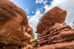 Red rock campground  pike national forest colorado springs woodl Royalty Free Stock Image