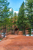Red rock campground  pike national forest colorado springs woodl Stock Image