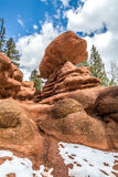 Red rock campground  pike national forest colorado springs woodl Stock Photo