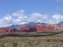 Red Rock Canyon #1. A View Of The Multicolored Mountains Of Red Rock Canyon Near Las Vegas Nevada Royalty Free Stock Photo