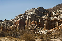 Red Rock Canyon. This is a view of the Red Rock cliffs at Red Rock Canyon State Park in California royalty free stock photos