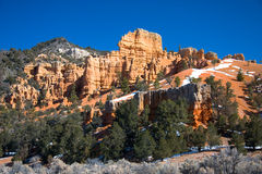 Red Rock Canyon. Red Canyon is located along Scenic Byway 12, just 9 miles from Bryce Canyon stock photo