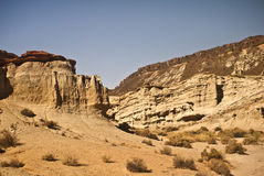 Red Rock Canyon Cliffs. Desert View from Red Rock Canyon State Park royalty free stock photo