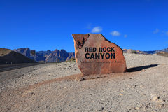 Red Rock Canyon entrance Stock Photography