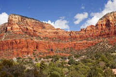 Red Rock Canyon Houses Sedona Arizona Royalty Free Stock Photo