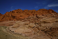 Red Rock Canyon Las Vegas Nevada. A view of the lovely Red Rock Canyon in Las Vegas Nevada USA a NV State Park that features scenic desert cliffs Stock Image