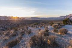 Red Rock Canyon National Conservation Area Nevada Desert Sunrise. Sunrise behind Calico Rocks at Red Rock Canyon National Conservation Area near Las Vegas Royalty Free Stock Images