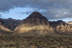 Red Rock Canyon National Conservation Area Nevada. Morning storm clouds at Nevada's Red Rock Canyon National Conservation Area Royalty Free Stock Image