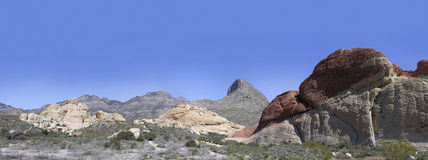 Red Rock Canyon National Conservation Area. Wide angle view of Red Rock Canyon National Conservation Area in Nevada, USA Stock Image
