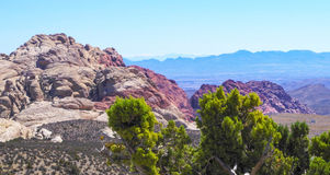 Red Rock Canyon National Park. View of Las Vegas, Nevada from loop drive in Red Rock Canyon National Park Royalty Free Stock Photos