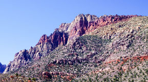 Red Rock Canyon National Park. View of mountain landscape on the park loop just outside of Las Vegas, Nevada Stock Image