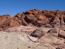 Red Rock Canyon near Las Vegas Nevada. Colourful sandstone climbing area in the desert Royalty Free Stock Photos
