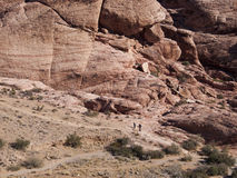 Red Rock Canyon near Las Vegas Nevada. Colourful sandstone rock climbing area in the desert Stock Photography