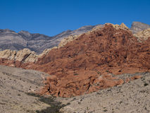 Red Rock Canyon near Las Vegas Nevada. Colourful sandstone. Climbing area. Desert Stock Images