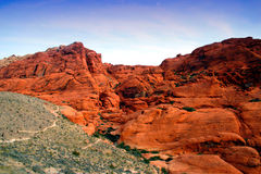 Red Rock Canyon, Nevada. The Red Rock Canyon National Conservation Area is located just a few miles west of Las Vegas and encompasses 197,000 acres within the Stock Photo