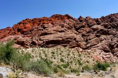 Red Rock Canyon Nevada. Rock formations in Red Rock Canyon National Conservation Area, Nevada, U.S.A Stock Photos