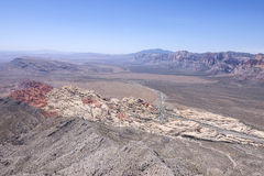 Red Rock Canyon, Nevada scenic high angle view Stock Image