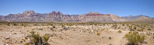 Red Rock Canyon panorama Nevada. Royalty Free Stock Photography