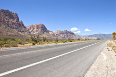 Red Rock Canyon road leading to Las Vegas NV. Stock Images