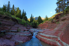 Red Rock Canyon in Rocky Mountains, Alberta Stock Photography