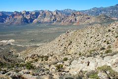 Red Rock Canyon and Sandstone Bluffs near Las Vegas, NV Stock Photo