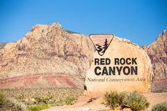 Free Red Rock Canyon Sign Nevada Royalty Free Stock Images - 117076449