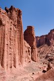 Red rock canyon in Talampaya National Park Stock Photo