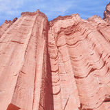 Red rock in canyon. Stock Image