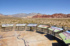 Red Rock Canyon visitor center observations Nevada. Royalty Free Stock Images