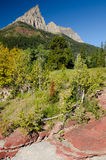 Red Rock Canyon in Waterton National Park Stock Photos