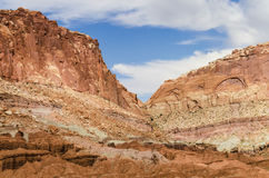 Red rock canyons in Capitol Reef National Park Royalty Free Stock Image