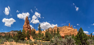 Red rock canyons outside Bryce Canyon National Park in Utah Royalty Free Stock Photography