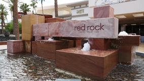 Red Rock Casino Fountain Sign stock video