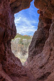 Red Rock cave Stock Photography