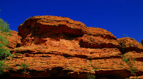 Red rock cliff Stock Photography
