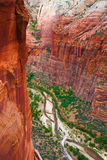 Red Rock Cliff in Zion National Park,Utah Stock Photo